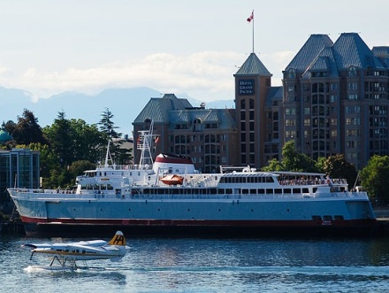 MV Coho in Victoria Harbour. Photo by Steve Voght via Wikimedia Commons.