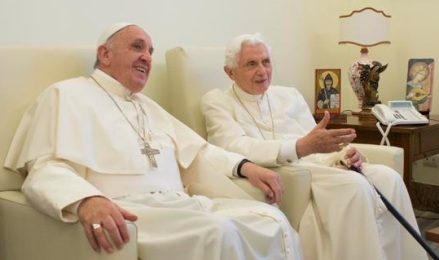 Popes Francis and Benedict