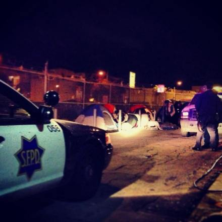 Police Arresting Homeless